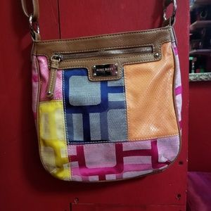 Nine west multi colored  purse